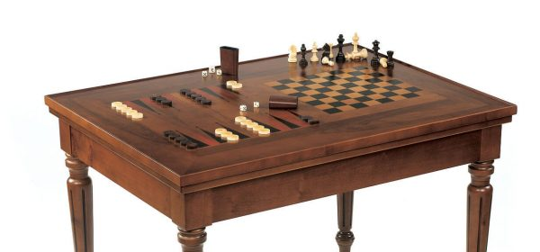 Dal Negro Rectangular Gaming Table - Chess/Draughts and Backgammon Boards