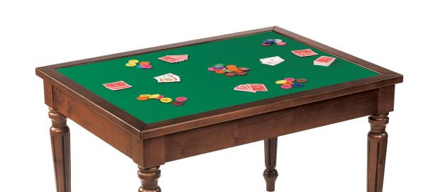 Dal Negro Rectangular Gaming Table - Baize Playing Surface