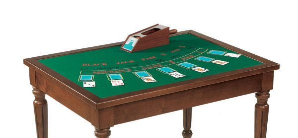 Dal Negro Rectangular Gaming Table - Black Jack Layout
