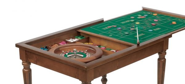 Dal Negro Rectangular Gaming Table - Roulette Layout and Accessories