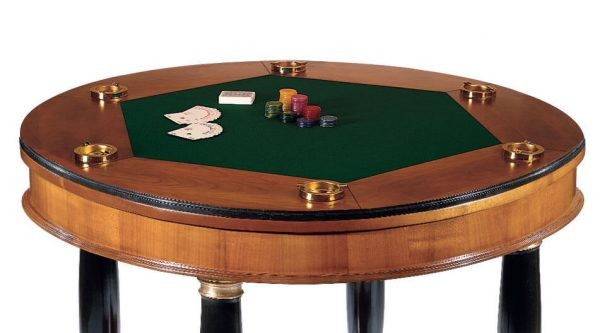 Dal Negro Large Round Gaming Table - Baize Playing Surface