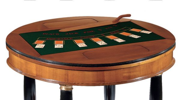 Dal Negro Large Round Gaming Table - Black Jack Layout