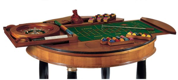 Dal Negro Large Round Gaming Table - Roulette Layout and Accessories