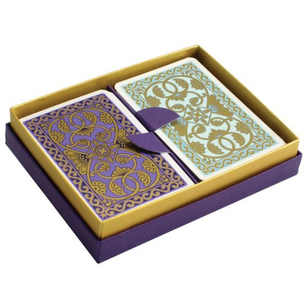 Emporium Playing Cards Duck Egg Blue and Purple