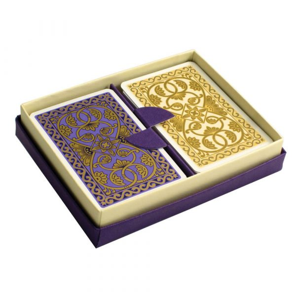 Emporium Playing Cards Purple and Vanilla