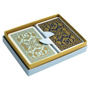 Emporium Playing Cards Duck Egg and Petrol Blue