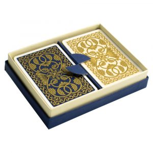 Emporium Playing Cards Petrol Blue and Vanilla