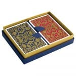 Emporium Playing Cards Petrol Blue and Pink