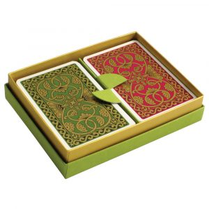 Emporium Playing Cards Green and Pink