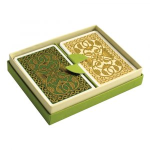 Emporium Playing Cards Green and Vanilla