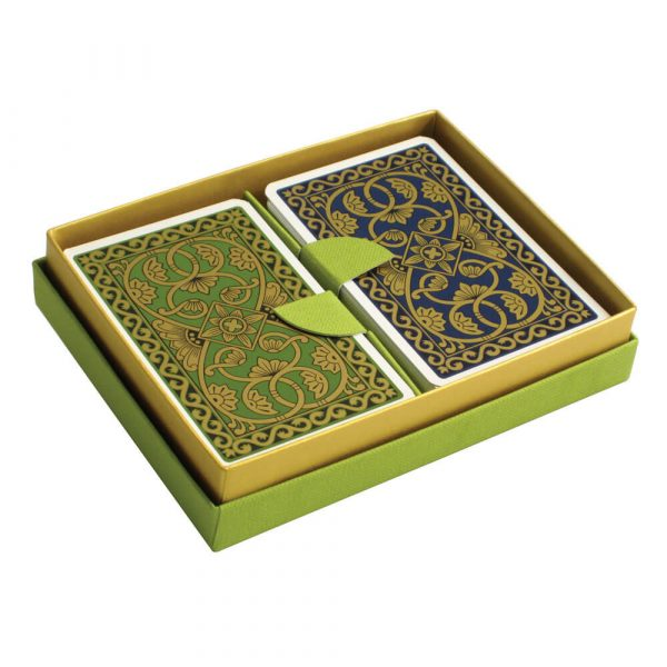 Emporium Playing Cards Green and Petrol Blue