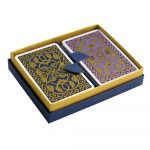 Emporium Playing Cards Petrol Blue and Purple