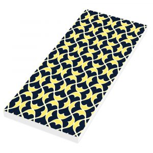 Helios blue yellow long notepad