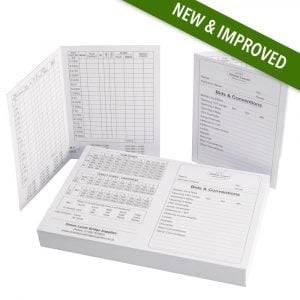 New and Improved bids conventions duplicate score cards