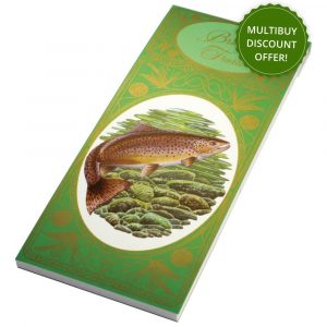 Simon Lucas Bridge Score Pad - Brown Trout
