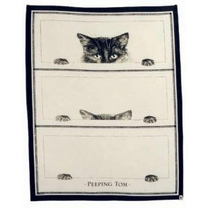 Peeping Top Tea Towel