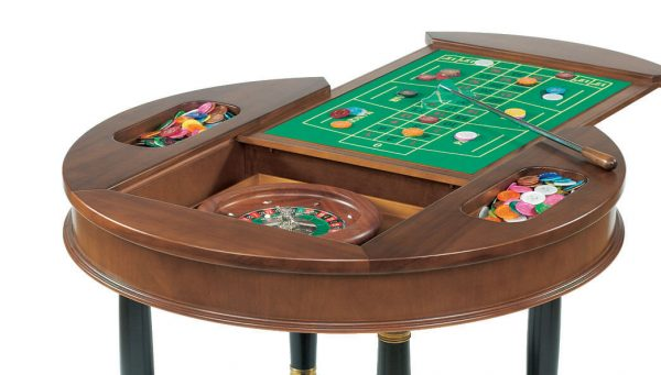 Dal Negro Round Gaming Table - Roulette Layout & Accessories