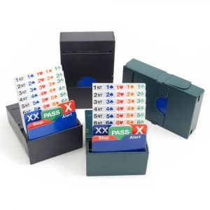 Jannersten Bidding Buddy Boxes - Mixed Set of 2 Dark Blue and 2 Green