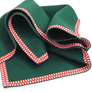 Baize Bridge Cloth with Red & White Braid