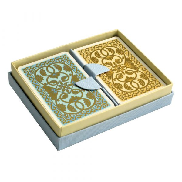 Emporium Playing Cards Duck Egg Blue and Vanilla