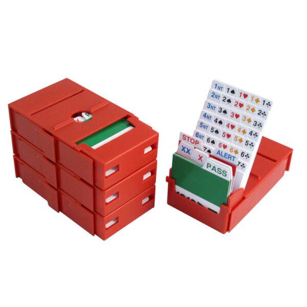 Pocket Bridge Partner Bidding Boxes - Red