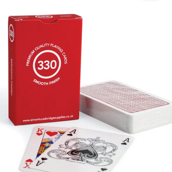 Premium Quality '330' Playing Cards - Red