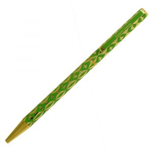 Harlequin Gold Plated Pen - Green
