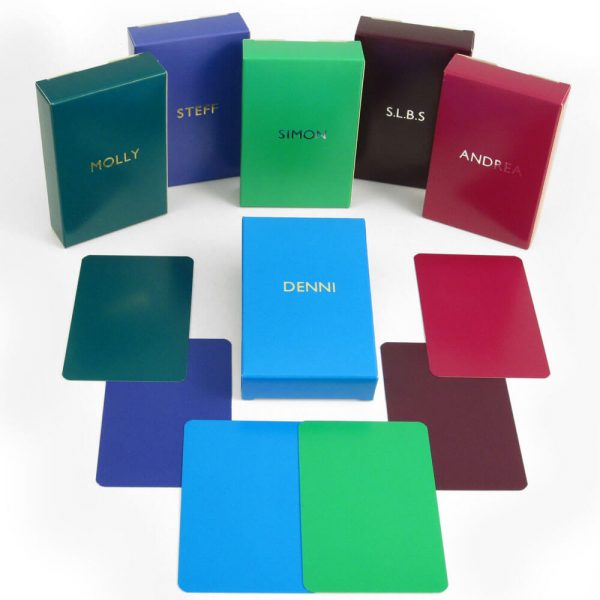 Luxury Personalised Playing Cards - Personalised Boxes and Plain Cards
