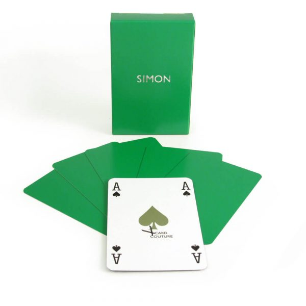 Luxury Personalised Playing Cards - Emerald with Personalisation