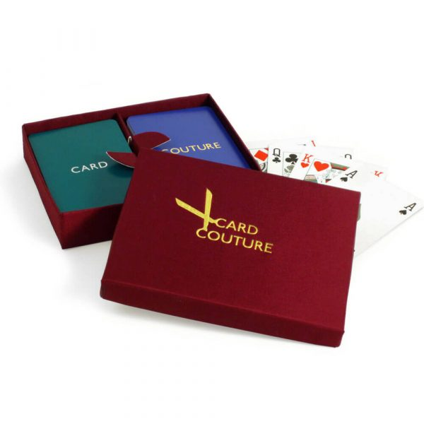 Personalised Playing Cards - Garnet Box, Teal and Purple Cards