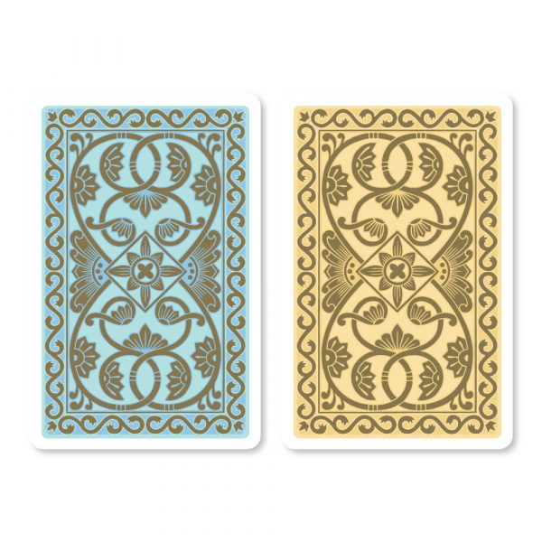 Emporium Bridge Playing Cards in Duck Egg Blue & Vanilla - Card Back Design
