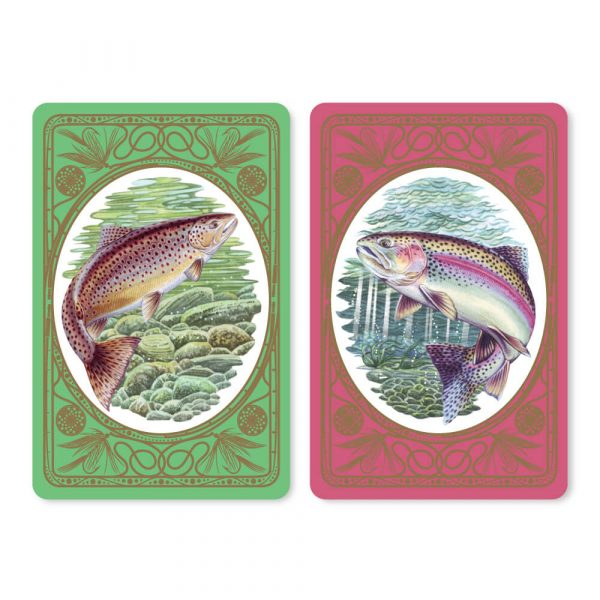 Rainbow & Brown Trout Bridge Playing Cards