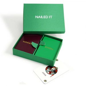Personalised Playing Cards - Emerald Box, Bordeaux and Emerald Cards