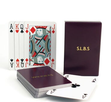 Luxury Personalised Playing Cards