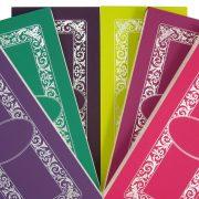 Luxury Personalised Bridge Score Pads - Fan of all 6 Colours