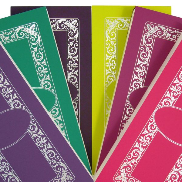 Luxury Personalised Bridge Score Pads - Fan of all 6 Colours