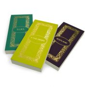 Luxury Personalised Bridge Score Pads - Atlantic, Absynthe and Violet with Gold Foil