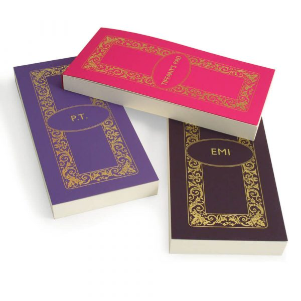 Luxury Personalised Bridge Score Pads - Lavender, Bubblegum and Violet with Gold Foil