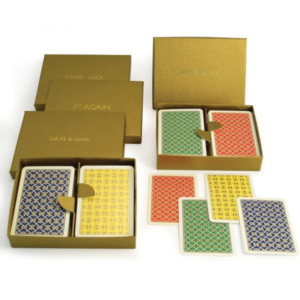 Helios Playing Cards in a Personalised Presentation Box