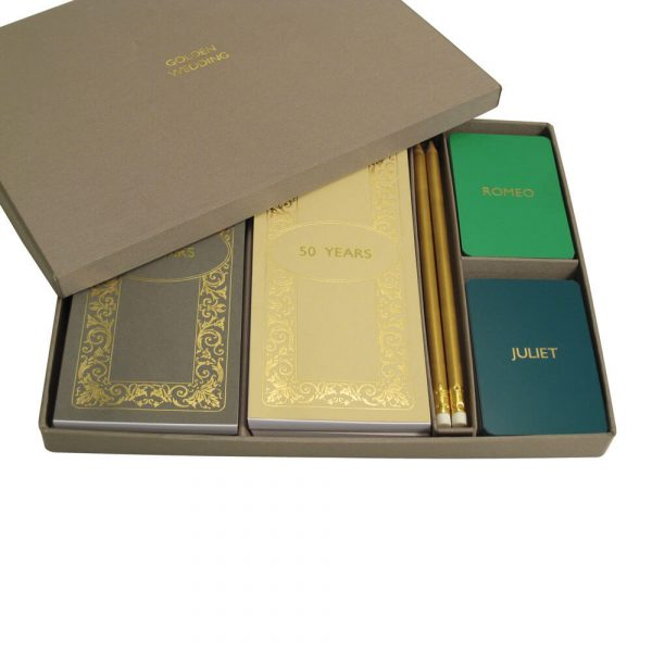 Luxury Personalised Bridge Gift Set - Emerald and Teal Cards
