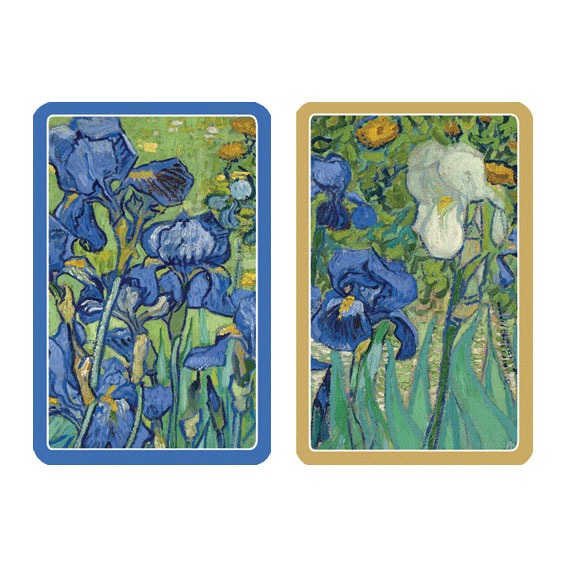 Caspari Playing Cards - Van Gogh Irises, Card Backs