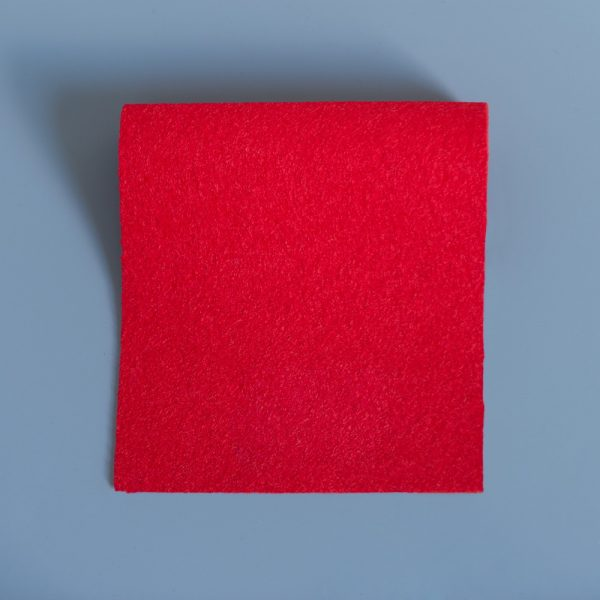 Bright Red Extra Wide British Baize