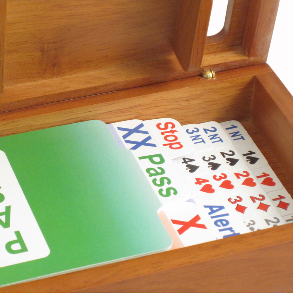Wooden Bidding Boxes with British Bidder® Cards - Cherry
