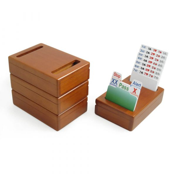 Wooden Bridge Bidding Boxes with Cherry Lacquer