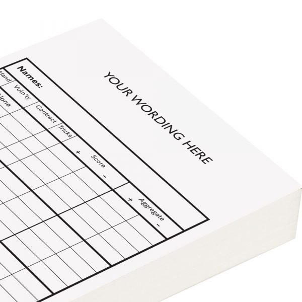 Personalised Chicago Score Cards - White