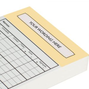 Personalised Chicago Score Cards - Vanilla