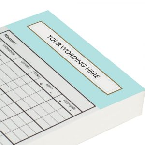 Personalised Chicago Score Cards - Duck Egg Blue