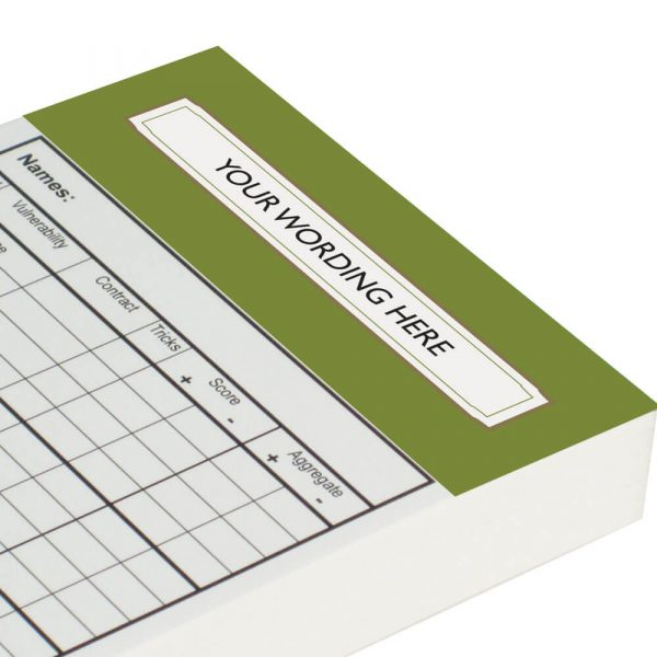Personalised Chicago Score Cards - Olive Green