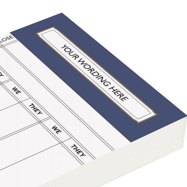 Personalised Rubber Score Cards - Petrol Blue