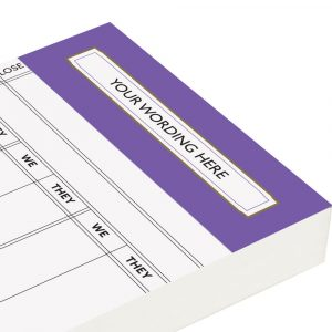 Personalised Rubber Score Cards - Purple